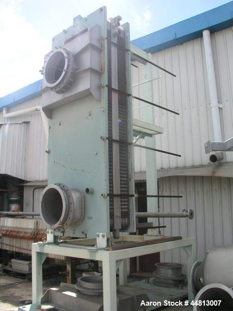 Used-Cassette Plate Evaporator, Model CT6.  1200 mm Wide x 3000 mm high, stainless steel pre-evaporator CT6 Centritherm, 24 ...