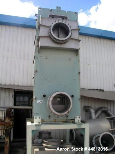 Used- Centritherm Cassette Plate Evaporator, Model CT6. 1200mm wide x 3000mm high. (24) Plates, stainless steel construction...