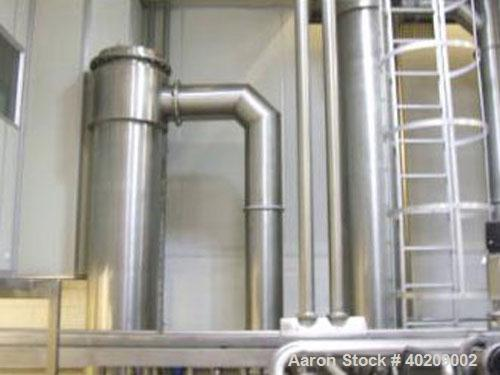 Unused-Used: Scheffers 2 Stage Falling Film Milk Evaporator with Thermal Recompression; Evaporation rate of 3,700kg/hr; Stea...