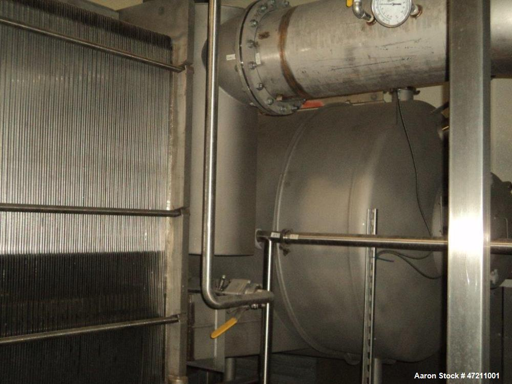 Used- Invensys APV Three Effect, Rising/Falling Film Plate Evaporator.