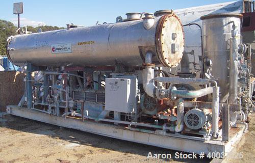Used- Aqua-Chem Batch Stainless Steel Compression Evaporator System, Model VCFC