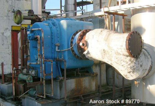 USED: Buflovak mechanical vapor compression falling film evaporator. Forced circulation. 1250 hp, 2 stage compressor. 450 hp...