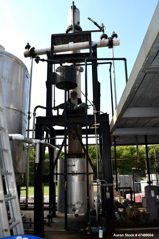 """Used- C.E. Howard Distillation System Consisting Of: (1) Approximate 18"""" diameter x 214"""" tall stainless steel column. (1) Ap..."""