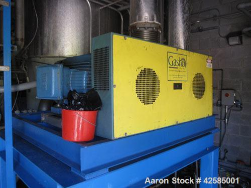 Used- GEA / Niro Falling Film Mechanical Vapor Recompression (MVR) Evaporator. Single effect, approximately 1,500 square fee...
