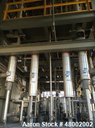Used- Texas Systems & Control Inc. Distillation System. Includes: feed tanks and pumps, condensers, reboilers (electric), re...