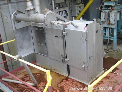 USED: Rossi Catelli double effect evaporator, model T60, rated 48,400 lbs/hour water evaporation, feed rate of 60,000 lbs/ho...