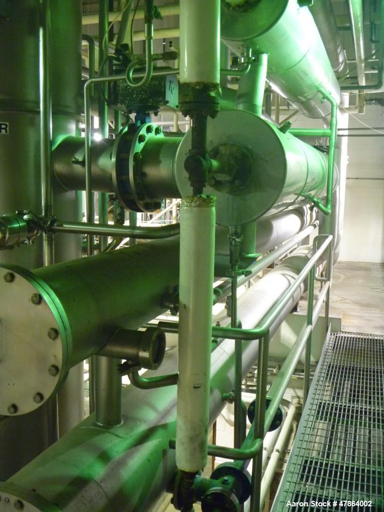 Used- Wiegand GEA, Single Effect Turbofan (500HP Turbofan Motor Not Included) MVR Evaporator With Integrated Single Effect F...