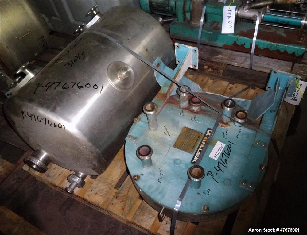 Used- Alfa-Laval Centri-Therm Centrifugal Evaporator, Model CT-6