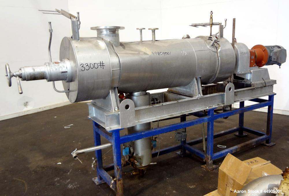 Used- Buss SMS Canzler Horizontal Conical Thin Film Evaporator, Model SAKO KH-01