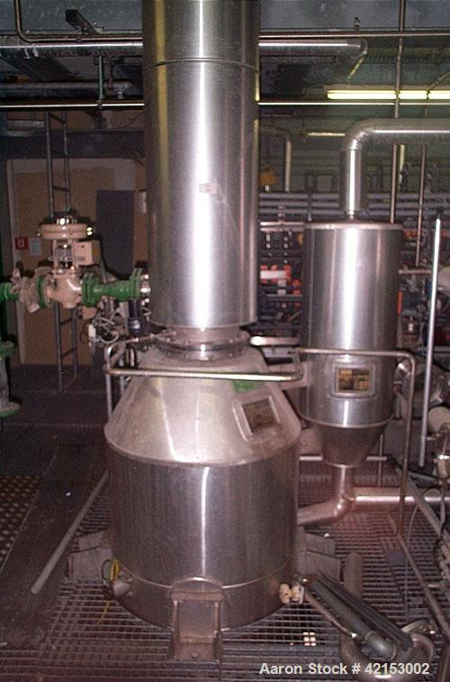 Used-Grill & Grossmann W370 3 Level Vacuum Evaporator, with condenser, fall film evaporator and separator. Stainless steel 3...