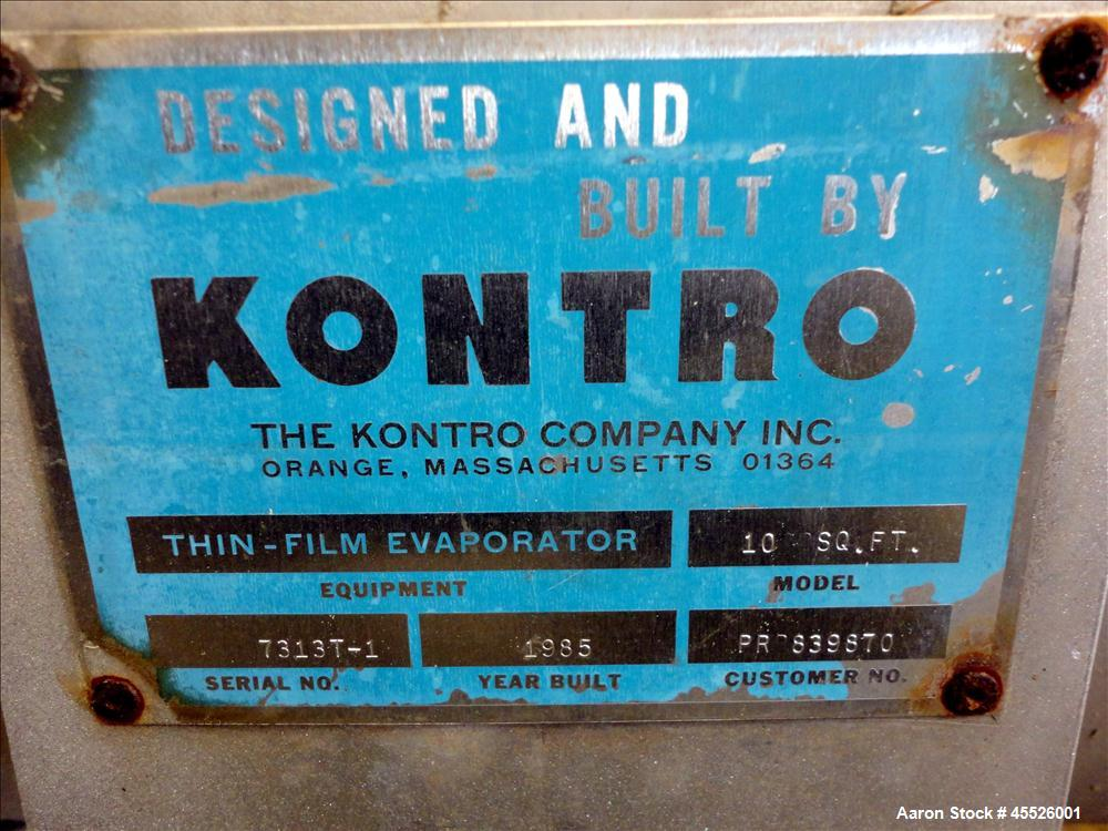 Used- Kontro Thin Film Evaporator, Model 10