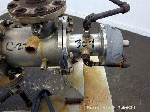"Used- Kontro Lab Size Wipe Film Evaporator, 1 Square Foot, Horizontal. Approximately 4"" diameter x 30"" long reversed tapered..."
