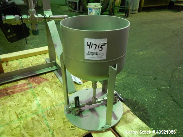 Used- LCI LABVAP Horizontal Thin Film Evaporator, 0.25 Square Feet. 316 Stainless steel construction. Internal rated Full Va...