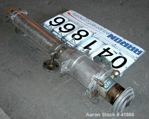 "Used- Luwa Thin Film Evaporator, Model L-082/500/14, 316 Stainless Steel. 1.4 Square feet surface area, 3"" diameter x 21"" lo..."