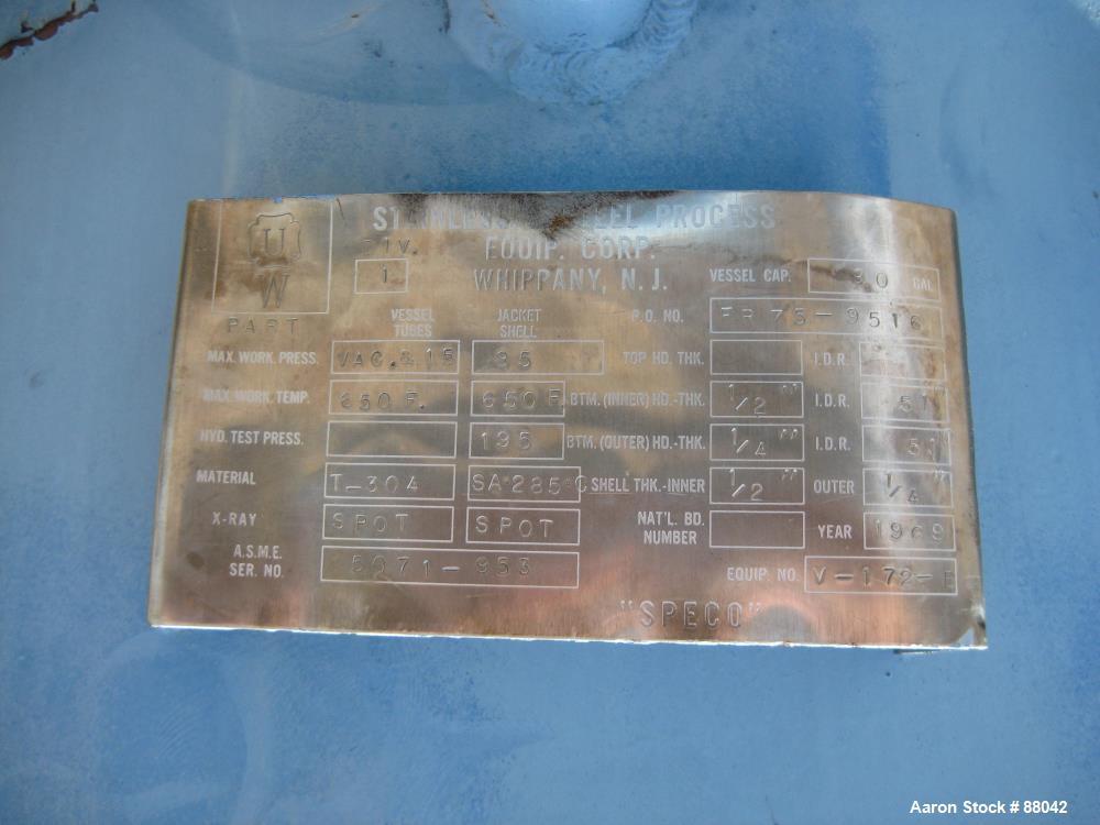 Used- Luwa Wipe Film Evaporator, Model L850/6300/HT
