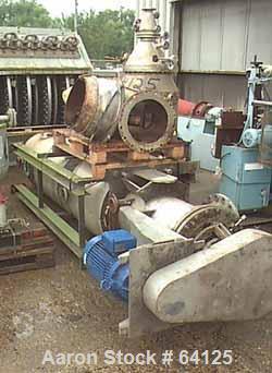 "USED: Luwa evaporator, type LB-0350-K78. 316 stainless steel (VA1.457) construction. 16.9"" diameter x 110"" straight side (32..."