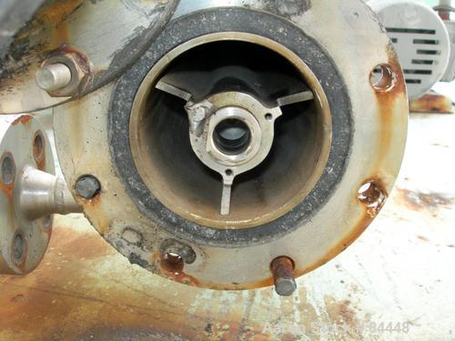 "USED: Luwa thin film evaporator, model LN-0012, 316 stainless steel, vertical. 1.4 square feet. 3"" diameter x 21"" long jacke..."