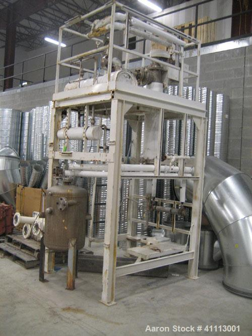 Used- Luwa Thin Film Evaporator, 5.4 square feet, model LN-0050, stainless steel. Driven by a  2 hp xp motor. Includes a con...