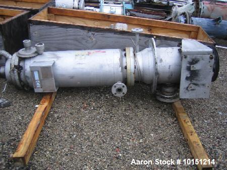 "Used- LCI Vertical Turbofan Thin Film Evaporator. 11.8 square feet, 316 stainless steel construction. 12"" diameter x 48"" lon..."