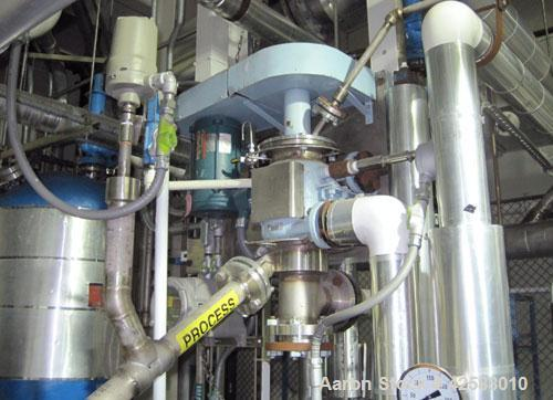 Used- Pfaudler Wiped Film Evaporator, Model 1.2-6L-WFE. Includes(1) Pfaudler .5square foot 316L stainless steel shell and ...