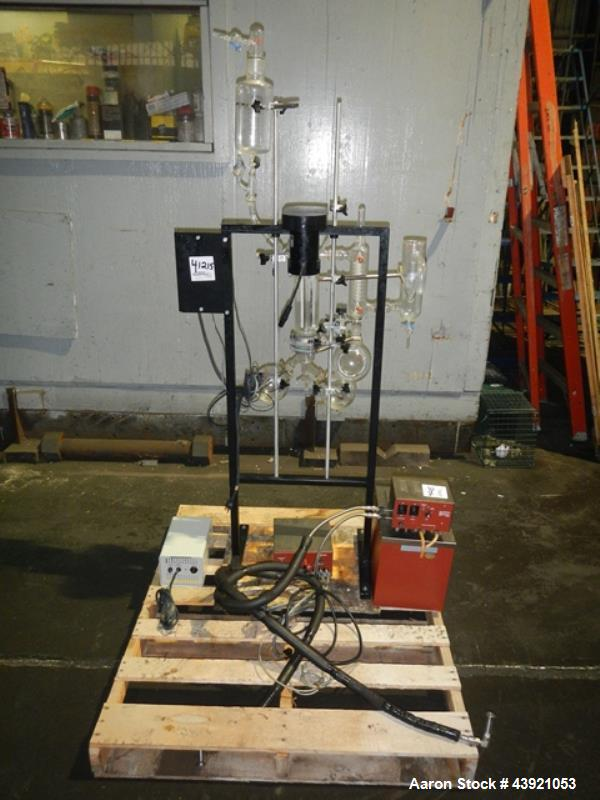 "Used- Pope Scientific Wiped Film Evaporator, 0.35 Square Feet. 2"" Diameter glass chamber, stainless steel rotor with Teflon ..."