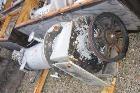 Used- LCI Vertical Turbofan Thin Film Evaporator. 11.8 square feet, 316 stainless steel construction. 12