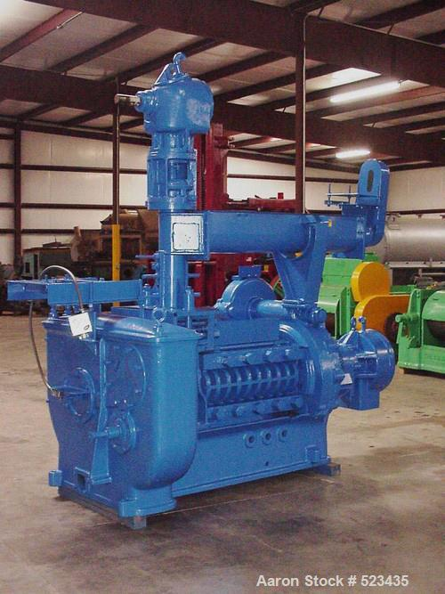 USED: Anderson Duo 33 expeller press. Unit equipped with feeder, short vertical barrels, horizontal barrels, 50 hp drive, 44...