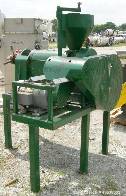 Used- Anyang Stariver Expeller, model 10, carbon steel. Approximate 90 lbs/hr of any oil seed. Approximate 3 1/2'' diameter ...