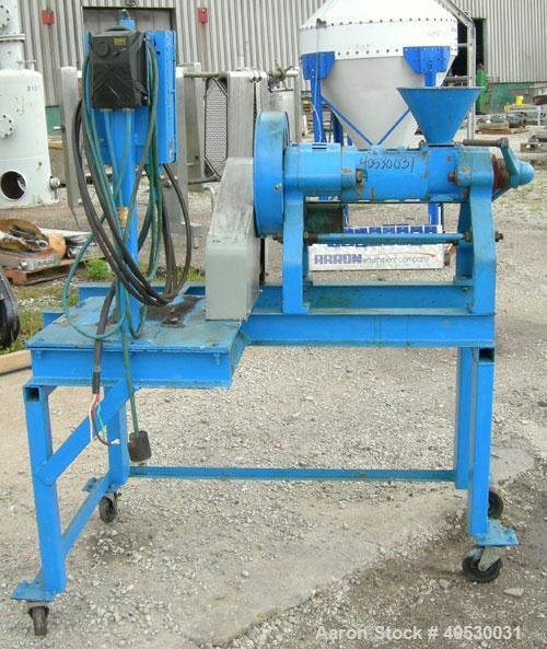Used- Anyang Stariver Expeller, model 6Y, carbon steel. Approximate 40 kg/hr of any oil seed. Approximate 3'' diameter x 12'...