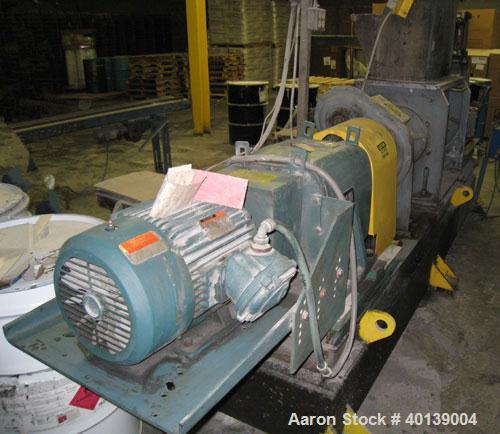 """Used: Bonnot extruder, model 8"""" E-Z-Clean, all stainless steel wetted parts,  8"""" diameter barrel with pre-conditioner. Year ..."""