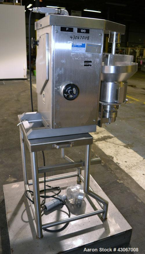 Used- Aeromatic-Fielder Nica Systems Extruder, Model E-140, 316 Stainless Steel. Approximate 5-1/2'' diameter x 1-3/4'' wide...