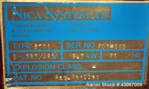 Used- Aeromatic-Fielder Nica Systems Spheronizer, Model S700, 316 Stainless Steel. 700mm (27.5'') diameter x 200mm (7.87'') ...