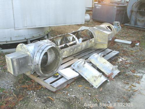 USED: Amandus Kahl continuous reciprocating feeder - paddle mixer,type M500, 316 stainless steel construction. Drive is Euro...