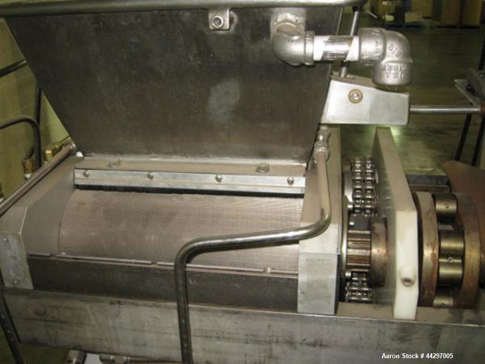 Used- Bepex Extruder/Rotary Bar Press, Model DP140-300