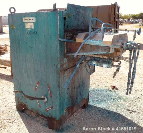 Used- Stainless Steel Bepex Rotary Bar Roller Press Extruder, Model FP200AA