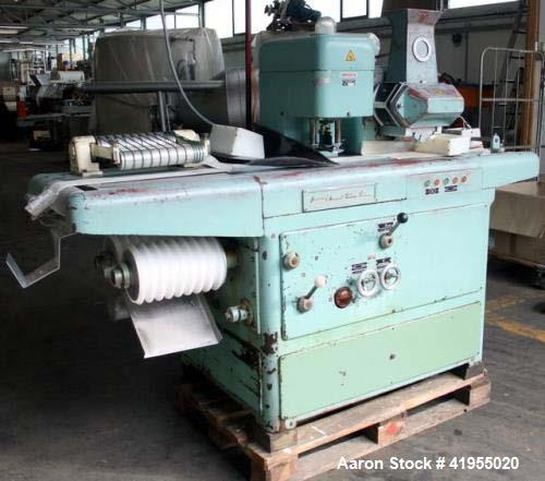 Used- Bepex Hutt Marcipan Extruder. Double press rolls. Replaceable mouthpiece, with guillotine for longitudinal cut. Cuttin...