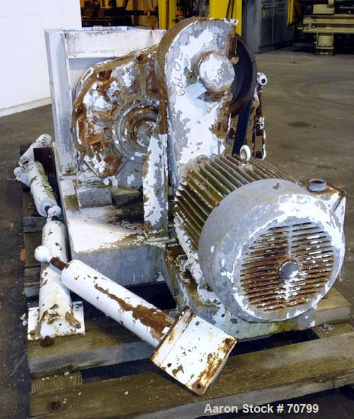 "Used- Bonnot Chopper/Extruder, 316/304 Stainless Steel. Non-jacketed trough 30"" long x 20-1/2"" wide x 25-1/2"" deep. 6"" diame..."