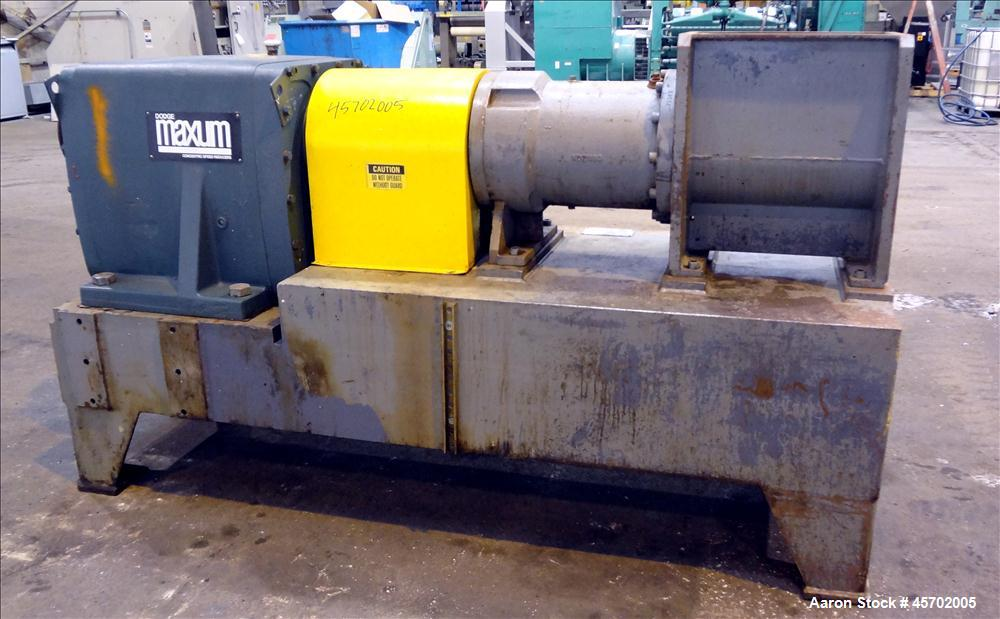 "Used- The Bonnot Co. Model 10 EXT Single Screw Extruder, Carbon Steel. 10"" Diameter x 72"" long screw, 7 to 1 L/D ratio. Miss..."