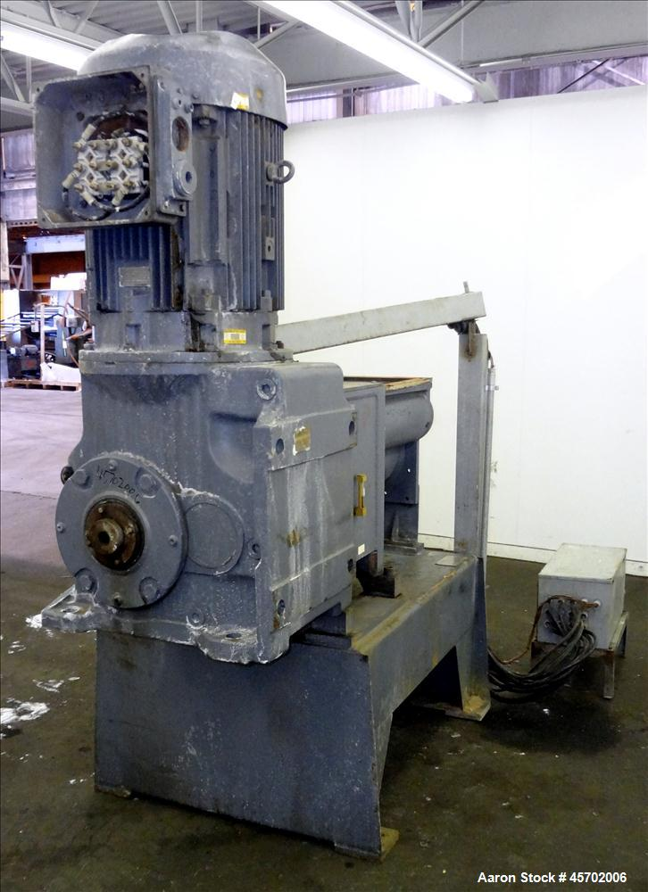 """Used- The Bonnot Co. Model 10 EXT Single Screw Extruder, Carbon Steel. 10"""" Diameter x 72"""" long screw, 7 to 1 L/D ratio. 20"""" ..."""