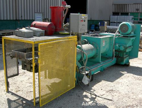 """USED- Bonnot Forming Extruder With Cutter, Model 10 Preform, Carbon Steel. Approximately 10"""" diameter x 86"""" long chrome plat..."""