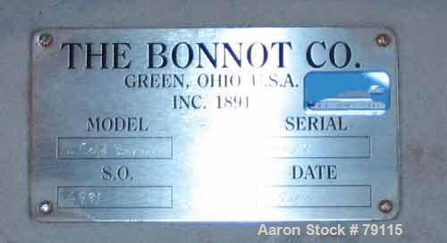 "Unused-UNUSED: Bonnot extruder, model 12COLDEXTRUDER, 304 stainless steel. 12"" diameter, 8:1 L/D, 2 section carbon steel jac..."