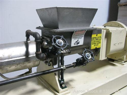 "Used-Bonnot 4"" single screw extruder, model 4""SS/TWN PKR. Stainless steel contact parts. Equipped with twin packer dual agit..."