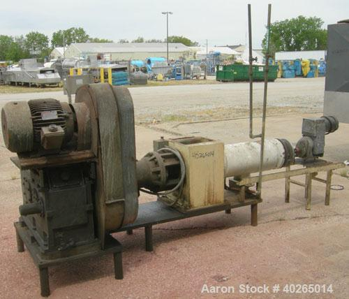 Used- Carbon Steel Bonnot Extruder, Model 8