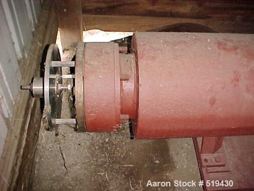 """USED: Bonnot 8"""" extruder, carbon steel jacketed with 8"""" x 12"""" feed opening and 26"""" long jacketed barrel designed for 15 psi...."""
