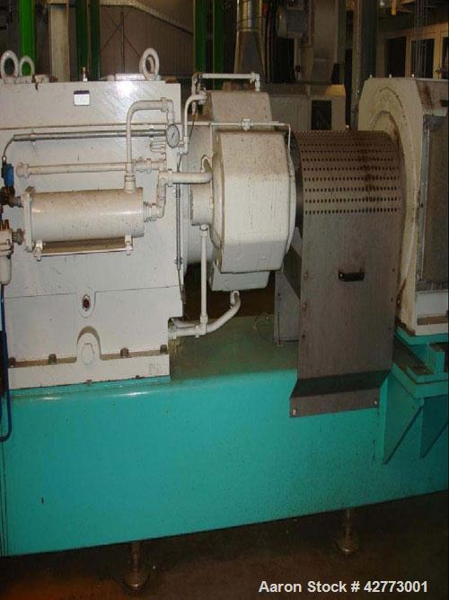 "Used-Buhler DNDJ-175/40D Co-Rotating Twin Screw Food Extruder.6.9"" (175 mm), L/D 40, (10) segments, screw speed 330 rpm, sta..."