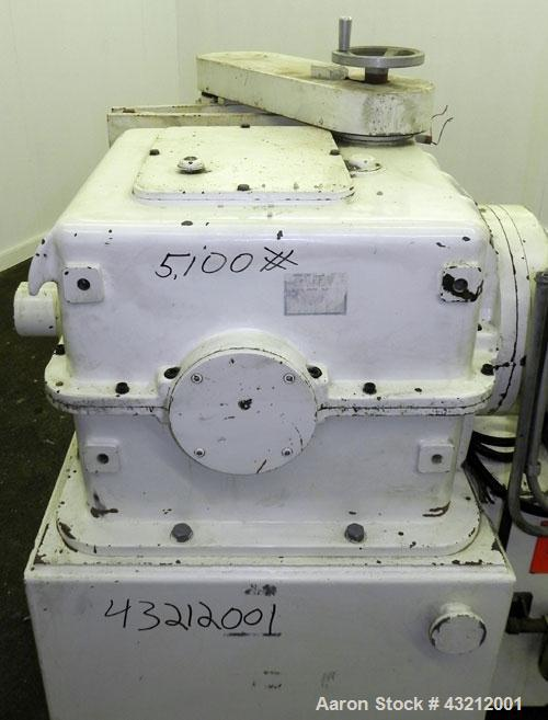 Used- Buss Ko-Kneader, Model KR-100, Stainless Steel. 100mm (3.93'') Diameter single screw, 11 to 1 L/D ratio. Approximate 4...