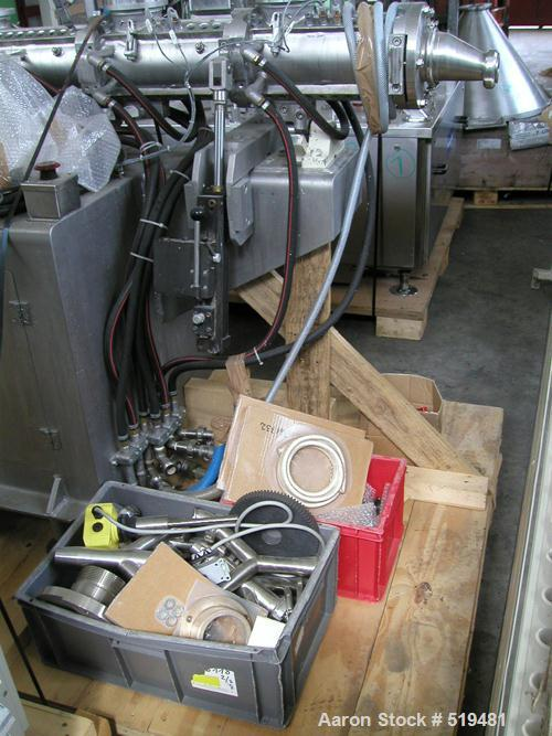 USED: Buss kneading extruder, model LR-100. 100 mm screw. Unit isequipped with 3 open feed ports, 4 heating/cooling zones. M...