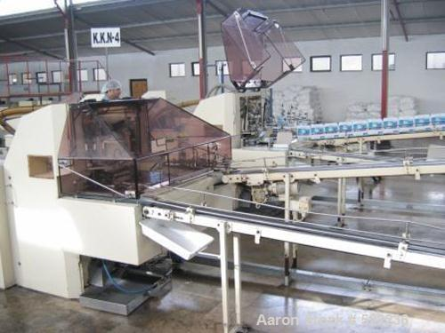 "USED: Gimpel twin screw gum extruder with (2) 3"" diameter x 15"" long screws with a 7"" wide x 5/16"" thick sheet die. Driven b..."