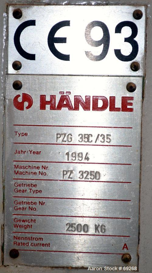 Unused- Handle Futura Combined De-Airing Extrusion Machine, Carbon Steel, Consisting Of: (1) Model MDVG 715B De-Airing Twin ...