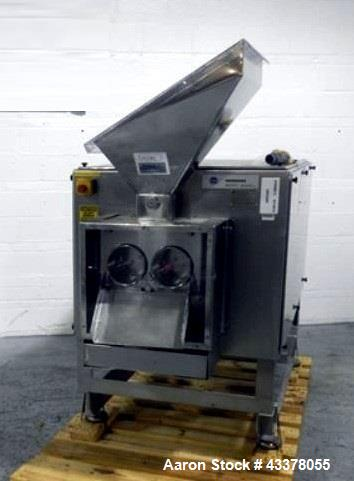 Used- Hosokawa Bepex Pellet Extruder, Model GCS 200/80. Stainless steel construction, 200 mm diameter x 80 mm wide twin dies...
